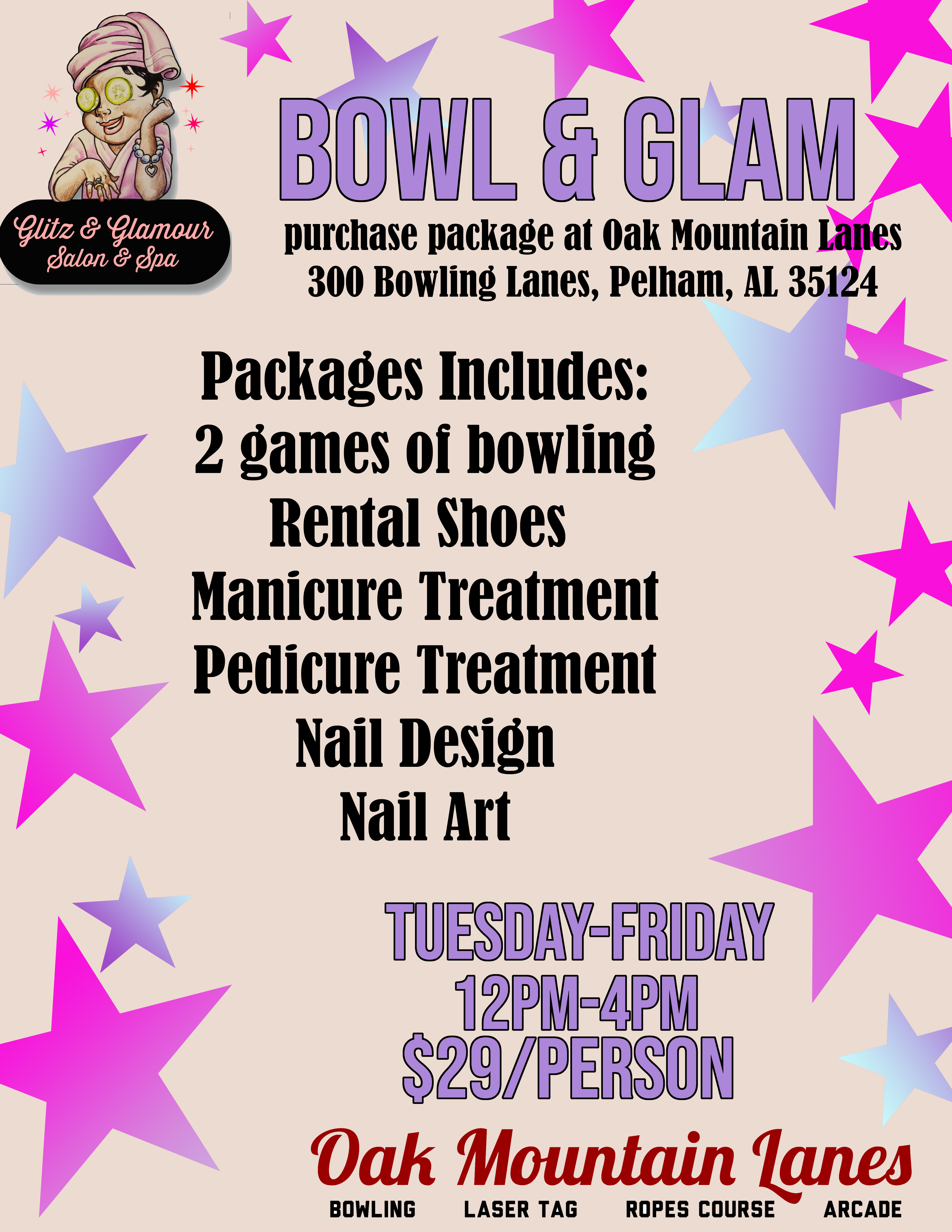 Bowl & Glam Flyer